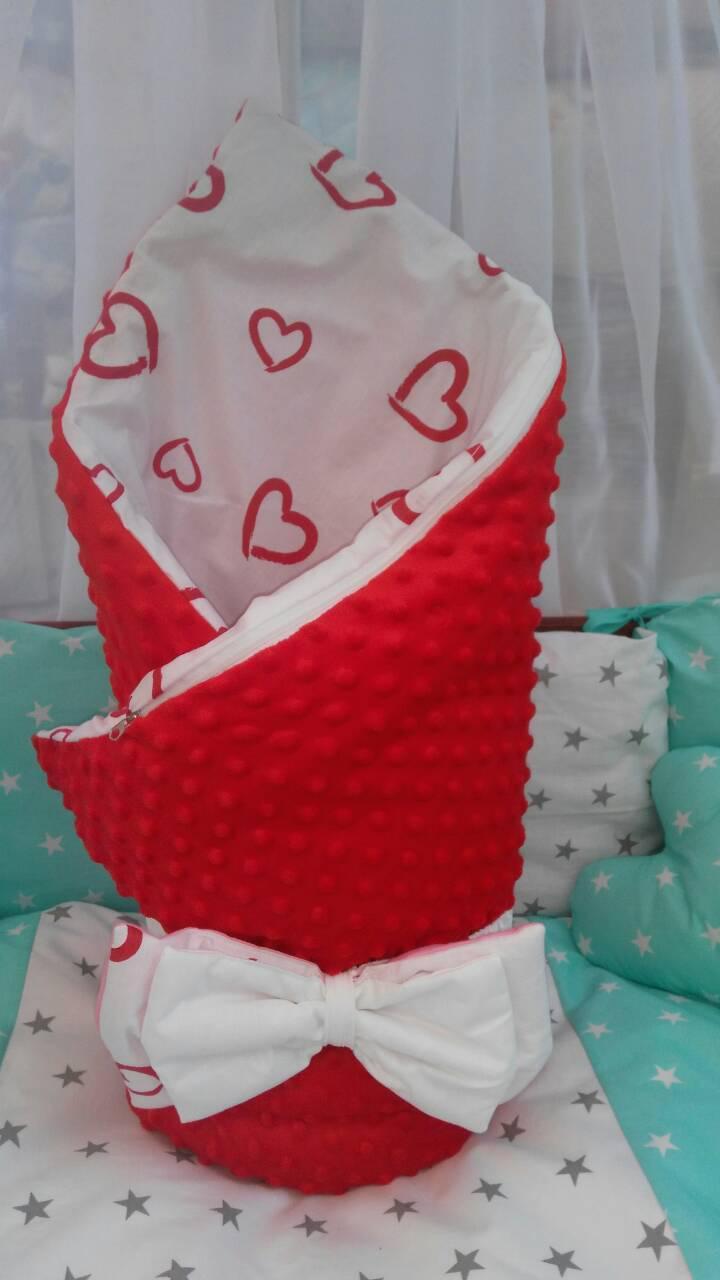 Двухсторонний конверт-одеяло  100х80см Минки для девочкек