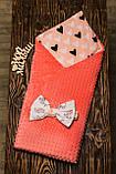 Двухсторонний конверт-одеяло  100х80см Минки для девочкек, фото 7