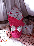 Конверт-одеяло  осень-весна 100х80 см Минки, фото 7