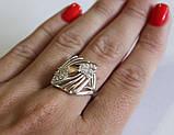 Серебряное кольцо с золотыми вставками, фото 3