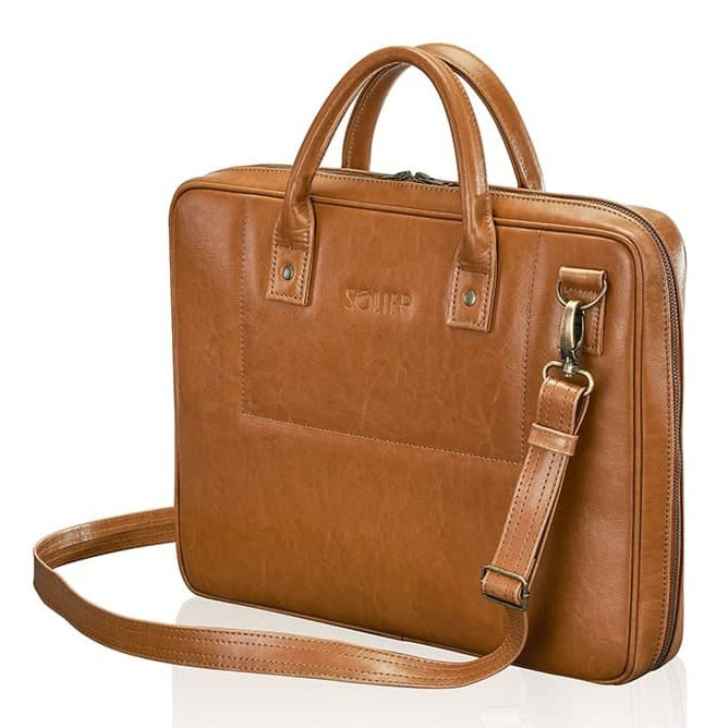 Кожаная сумка для ноутбука Solier SL21 CAMEL - Arion-store - кожгалантерея  и аксессуары в 84edd8d261382