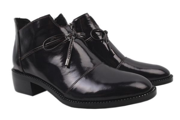 3722110f1727 Ботинки Angelo Vani лаковая натуральная кожа, цвет бордо: купить по лучшей  цене. ...