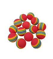 Мяч массажный, для снятия стресса, D = 35 мм, 6 шт в упаковке