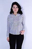 Рубашка женская белая в полоску размер L 3100