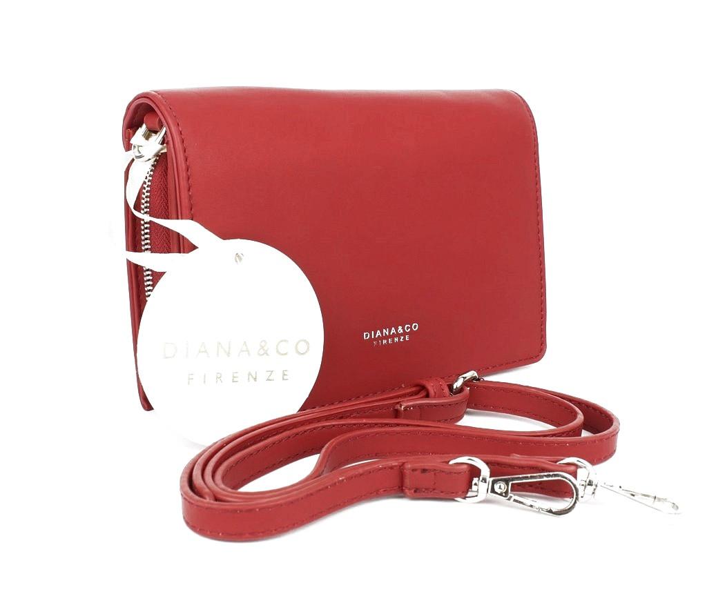 Клатч женский кожзам красный матовый Diana&Сo 323904-3, Италия