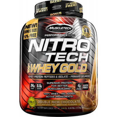 Протеїн MuscleTech Nitro-Tech 100 % Whey Gold 2510 g
