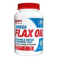 Жирні кислоти SAN Omega Flax Oil 100 Softgels