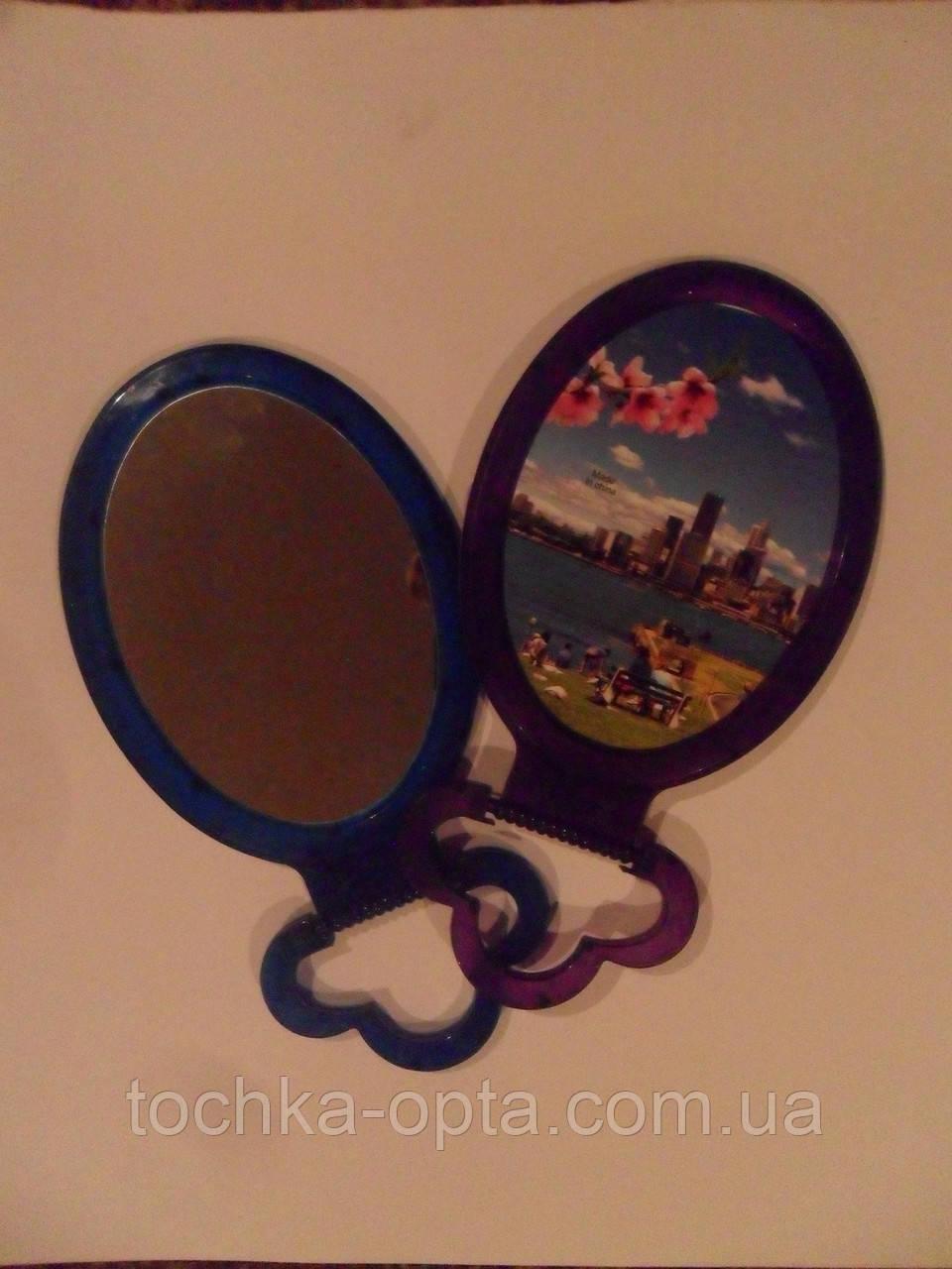 Зеркало овальное маленькое одностороннее