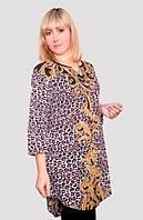 Женская халат-туника в модный принт
