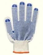 Перчатки защитные белые (4 нитки с ПВХ точками)