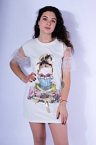 Туника женская белая размер L 3079