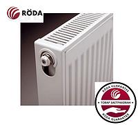 Стальной Радиатор отопления (батарея) 500x1000 тип 22 Roda (боковое подключение)
