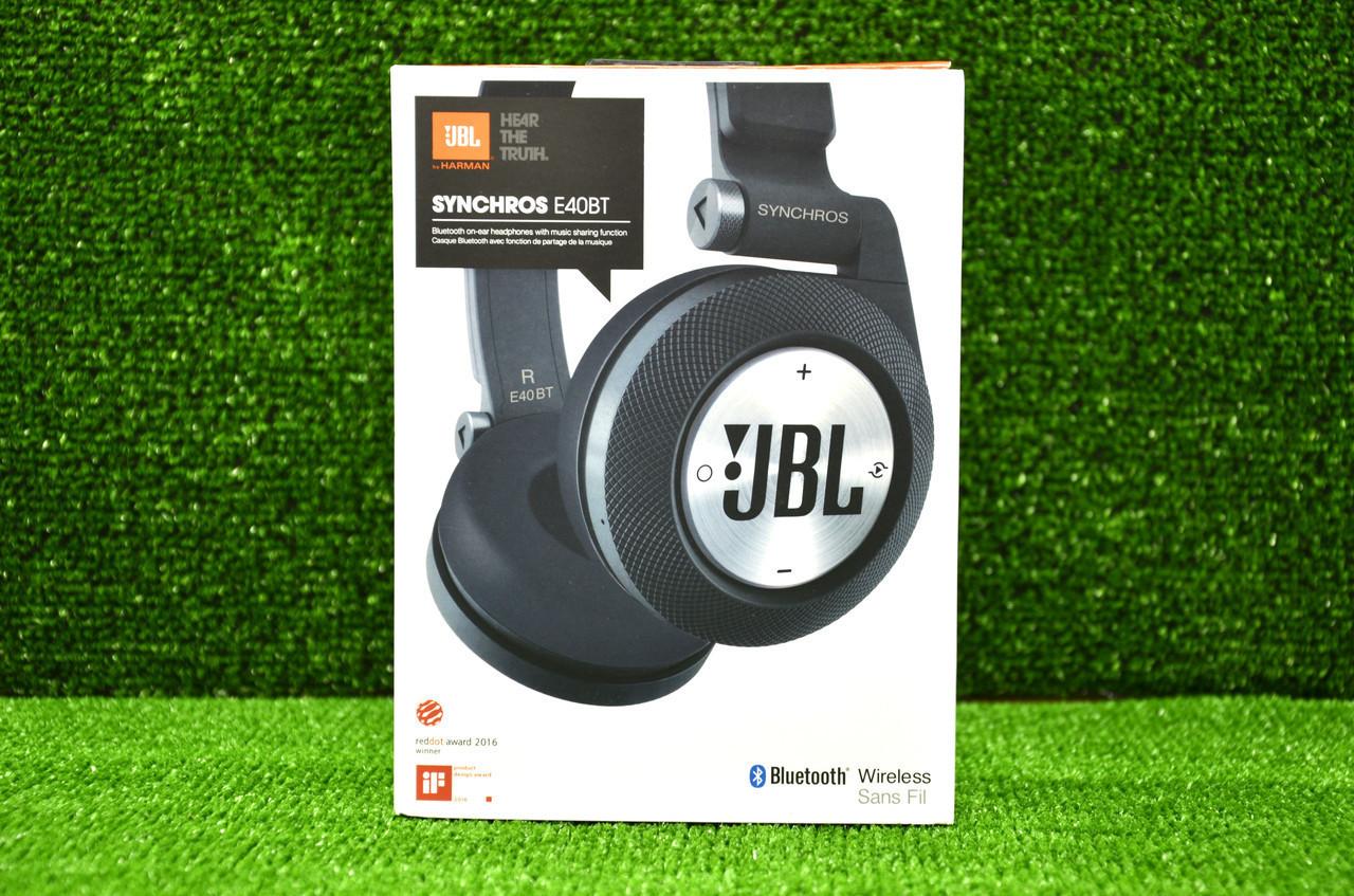 беспроводные наушники Jbl Synchros Bluetooth E40 Bt синие и красные