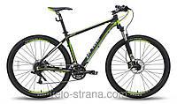 """Велосипед 29"""" PRIDE XC-29 HD рама - 21"""" черно-зеленый матовый 2015"""