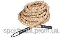 Канат тренир. для лазания (Crossfit Climbing Rope) (сизаль, l-15м, d-3,8см)