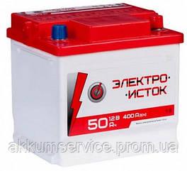 Аккумулятор автомобильный Электроисток 50AH L+ 400А