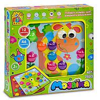 Мозайка, 12 платформ с рисунками, 46 элементов, в коробке  7393