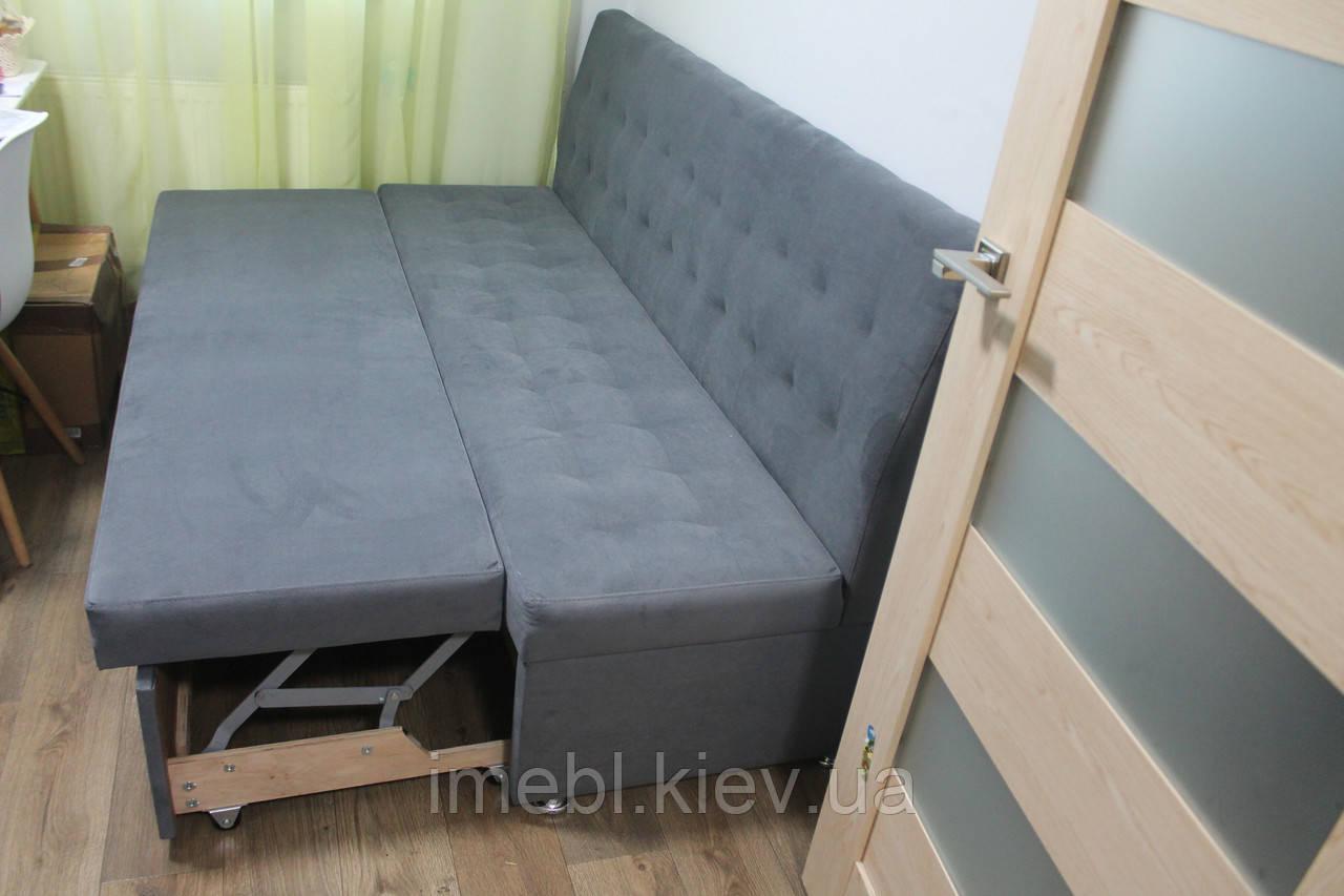 Диванчик со спальным местом для маленькой кухни (Серый)