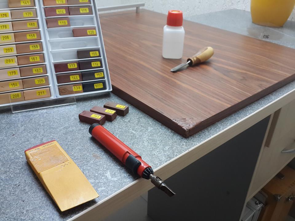 Реставрація кухонної шпонованої накладки. 2
