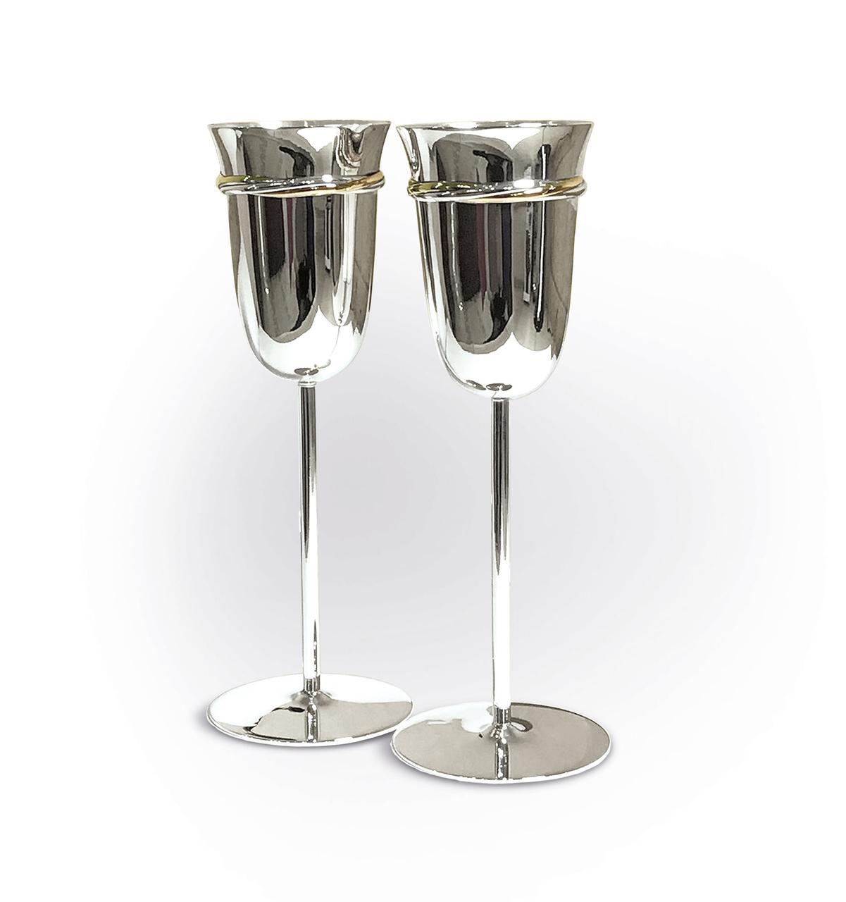 Серебряные свадебные бокалы