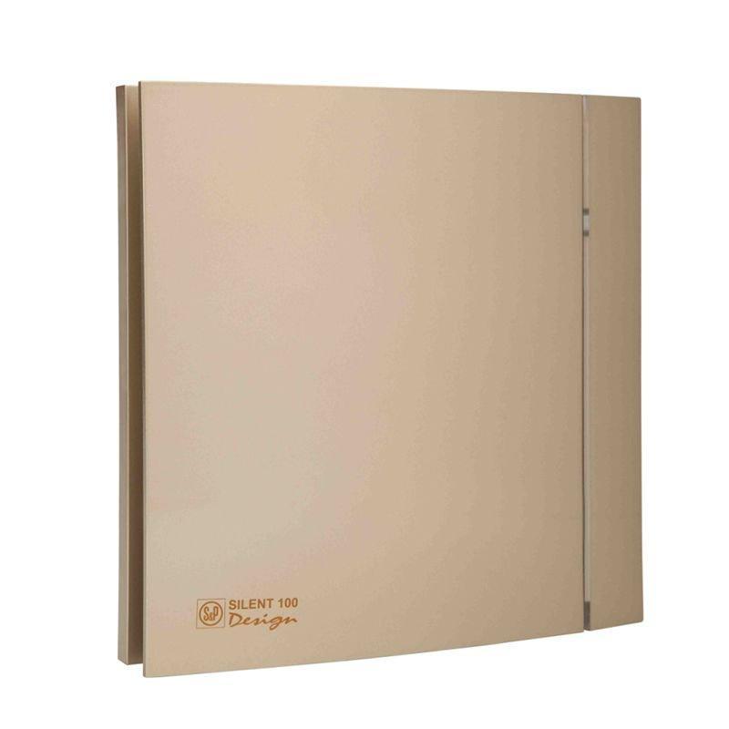 Бесшумный вентилятор для ванной Soler&Palau Silent-100 CZ CHAMPAGNE DESIGN 4C