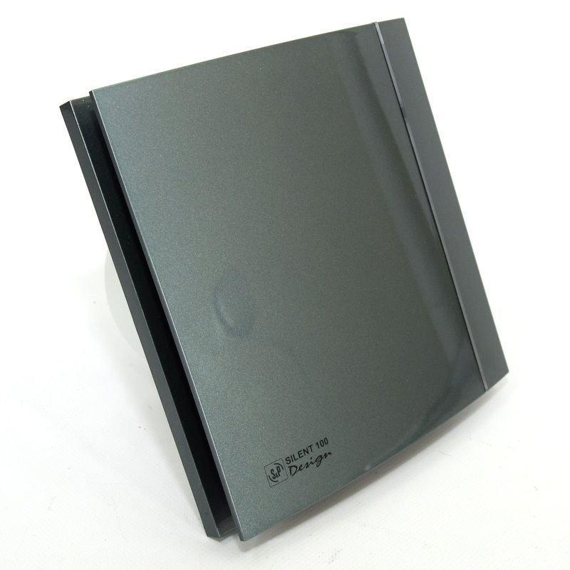 Осевой вентилятор для ванной Soler&Palau SILENT-100 CZ GREY DESIGN 4C