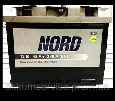 Аккумулятор автомобильный Nord 45AH L+ 380А
