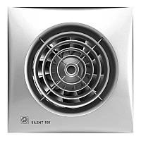 Бесшумный вентилятор для ванной Soler&Palau Silent 100 CZ Silver