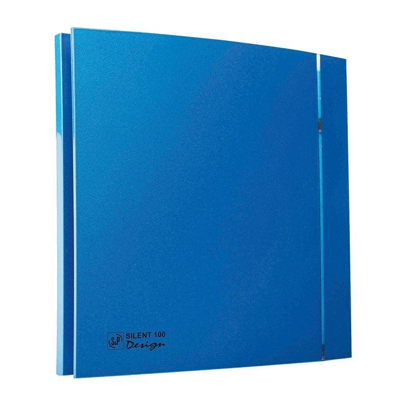 Бесшумный вентилятор для ванной Soler&Palau Silent-100 CZ BLUE DESIGN 4C