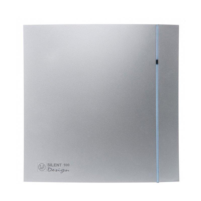 Бесшумный вентилятор для ванной Soler&Palau Silent 100 CZ Silver Design 3C