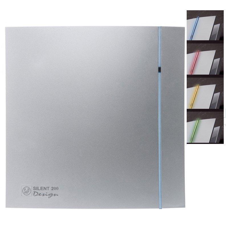 Осевой вентилятор для ванной Soler&Palau SILENT-200 CRZ SILVER DESIGN 3C, с таймером