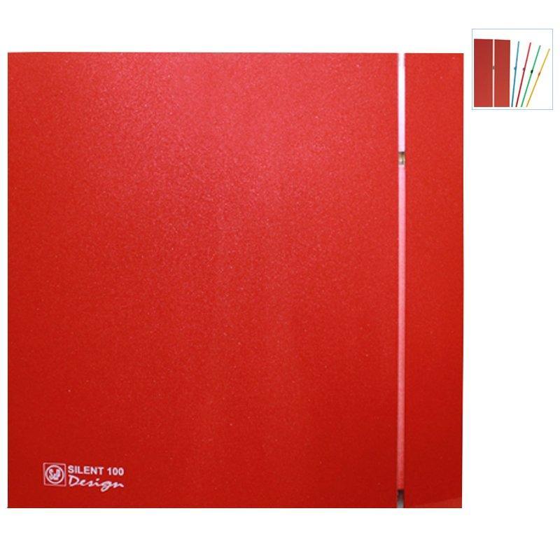 Вентилятор для ванной Soler&Palau Silent-100 CRZ RED DESIGN 4C, с таймером