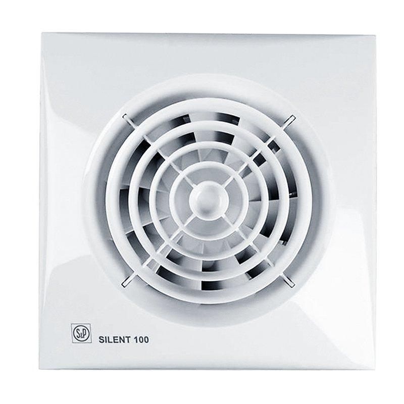 Вентилятор для ванной Soler&Palau SILENT-100 CZ ECOWATT, с обратным клапаном