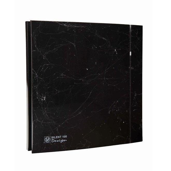 Бесшумный вентилятор для ванной Soler&Palau Silent 100 CZ Marble Black DESIGN 4C
