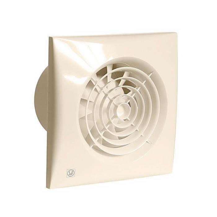 Бесшумный вентилятор для ванной Soler&Palau SILENT-200 CZ IVORY