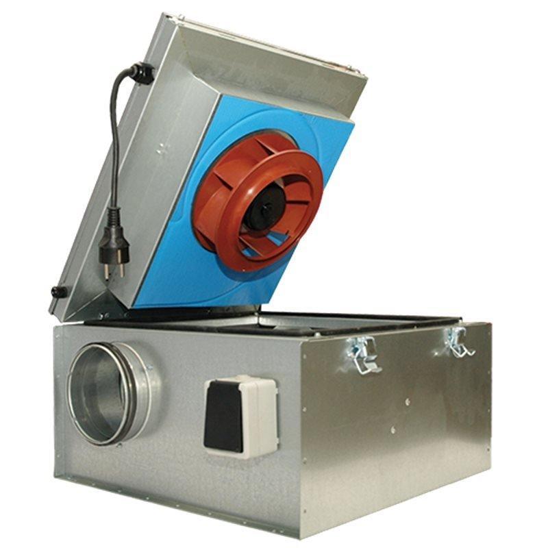 Systemair KVKE EC - канальный вентилятор с шумоизолированным корпусом и EC двигателем