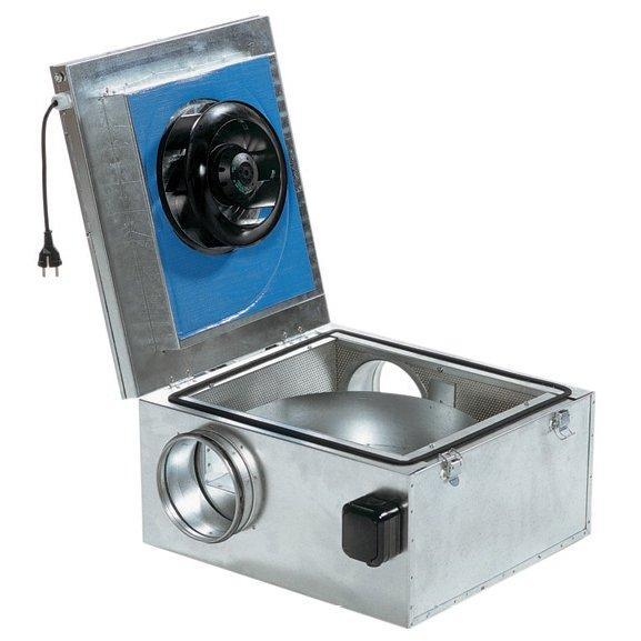 Systemair KVKE - канальный вентилятор в шумоизолированном корпусе