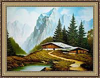 Картина в багетной раме Альпы 200х240 мм №301