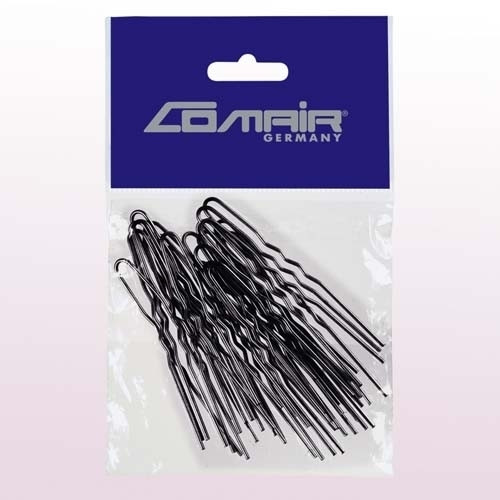 Шпильки для локонов Comair, 50 шт, Ø1,20 х 65 мм, золотистые