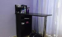 Стол для маникюра раскладной, с полками, черный., фото 1