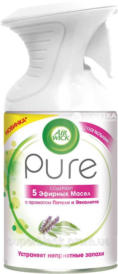 Освежитель воздуха Air Wick Pure Пачули и Эквалипт 5 эфирных масел 250 мл (5011417570067)