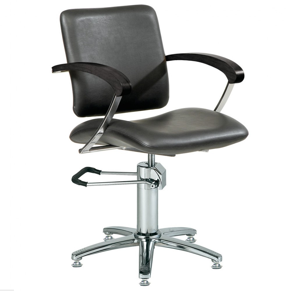 Кресло парикмахерское Ceriotti London, черное