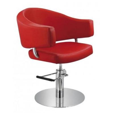 Кресло парикмахерское Comair Valencia красное