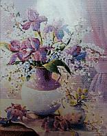 Пурпурная ваза Набор для вышивки крестом канва 14ст