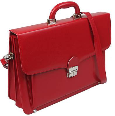Женский деловой портфель из эко кожи AMO Польша SST07 красный