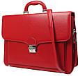 Женский деловой портфель из эко кожи AMO Польша SST07 красный, фото 2