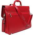 Женский деловой портфель из эко кожи AMO Польша SST07 красный, фото 4