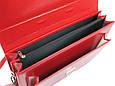 Женский деловой портфель из эко кожи AMO Польша SST07 красный, фото 9