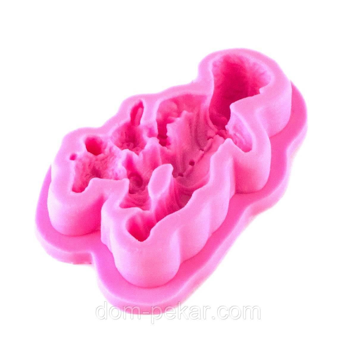 Молд для мастики мальчик с игрушкой H-F1486