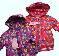 Куртка дитяча на манжеті для дівчаток 1-3 року